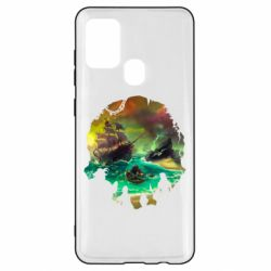 Чехол для Samsung A21s Skull of a sea of thieves