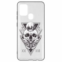 Чохол для Samsung A21s Skull with insect