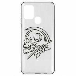 Чохол для Samsung A21s Skull with scythe