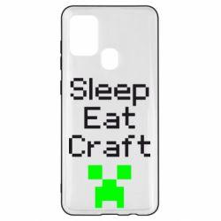 Чохол для Samsung A21s Sleep,eat, craft