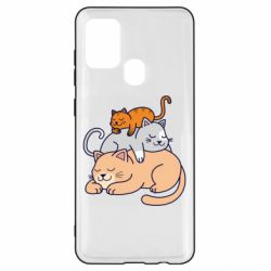 Чехол для Samsung A21s Sleeping cats