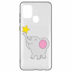 Чохол для Samsung A21s Слон із зірочкою