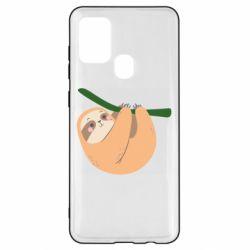 Чехол для Samsung A21s Sloth on a branch