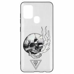 Чохол для Samsung A21s Smoke from the skull