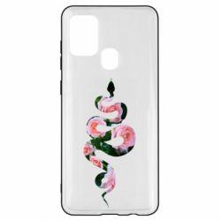 Чохол для Samsung A21s Snake and roses