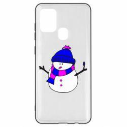 Чехол для Samsung A21s Снеговик