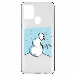 Чохол для Samsung A21s Snowman. It's Cold!