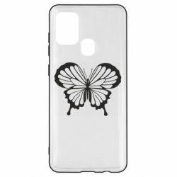 Чехол для Samsung A21s Soft butterfly