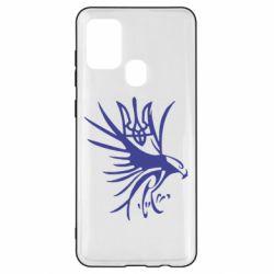 Чохол для Samsung A21s Сокіл та герб України