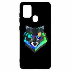 Чехол для Samsung A21s Сolorful wolf