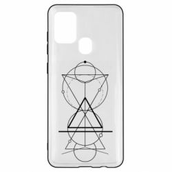 Чохол для Samsung A21s Сomposition of geometric shapes