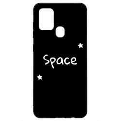 Чохол для Samsung A21s Space: Letters and Stars Print