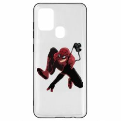 Чехол для Samsung A21s Spiderman flat vector
