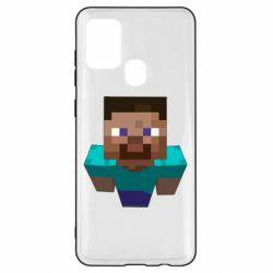 Чехол для Samsung A21s Steve from Minecraft