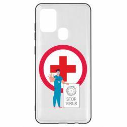 Чохол для Samsung A21s Stop virus and doctor