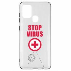 Чохол для Samsung A21s Stop virus