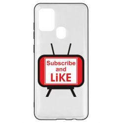 Чохол для Samsung A21s Subscribe and like youtube
