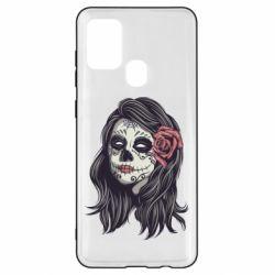 Чохол для Samsung A21s Sugar girl with a rose