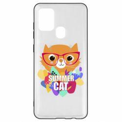 Чехол для Samsung A21s Summer cat