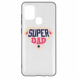 Чехол для Samsung A21s Super dad text