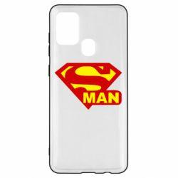 Чехол для Samsung A21s Super Man