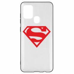 Чехол для Samsung A21s Superman одноцветный