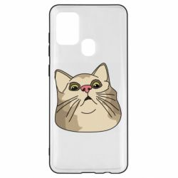 Чехол для Samsung A21s Surprised cat