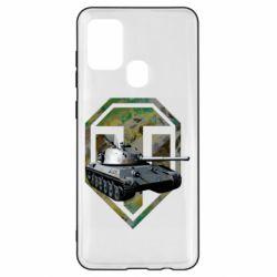 Чехол для Samsung A21s Tank and WOT game logo