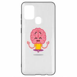 Чохол для Samsung A21s The brain meditates