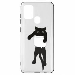 Чехол для Samsung A21s The cat tore the pocket