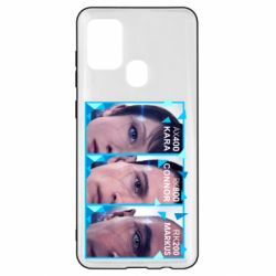 Чохол для Samsung A21s The faces of androids game Detroit: Become human