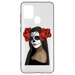 Чохол для Samsung A21s The girl in the image of the day of the dead