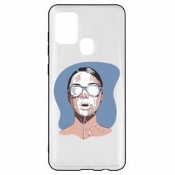 Чохол для Samsung A21s The girl is doused with milk
