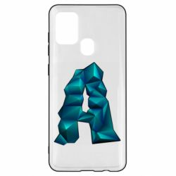 Чехол для Samsung A21s The letter a is cubic