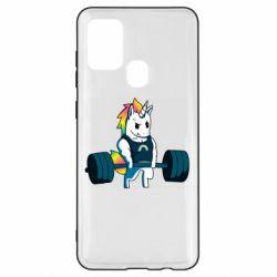 Чохол для Samsung A21s The unicorn is rocking
