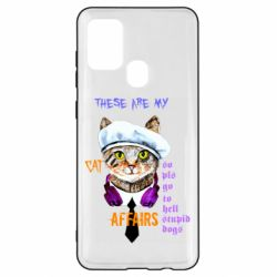 Чехол для Samsung A21s These are my cat affairs
