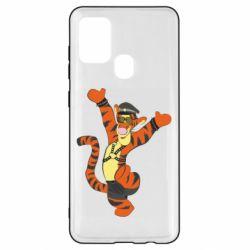 Чехол для Samsung A21s Тигра темный властелин