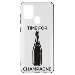 Чохол для Samsung A21s Time for champagne