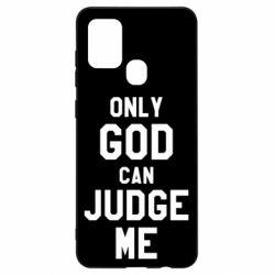 Чохол для Samsung A21s Тільки Бог може судити мене