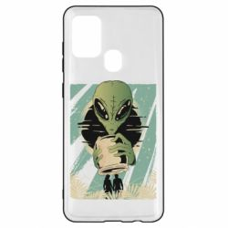 Чохол для Samsung A21s Alien with a can