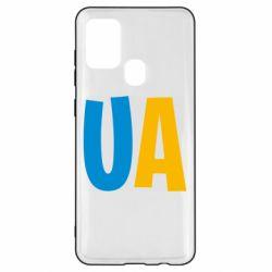 Чехол для Samsung A21s UA Blue and yellow