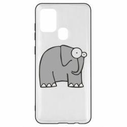 Чехол для Samsung A21s удивленный слон