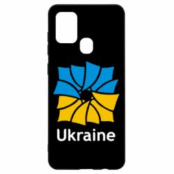 Чехол для Samsung A21s Ukraine квадратний прапор