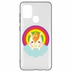 Чехол для Samsung A21s Unicorn and cloud