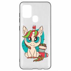Чехол для Samsung A21s Unicorn Christmas