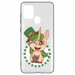 Чехол для Samsung A21s Unicorn patrick day