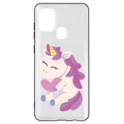 Чехол для Samsung A21s Unicorn with love