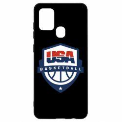 Чехол для Samsung A21s USA basketball