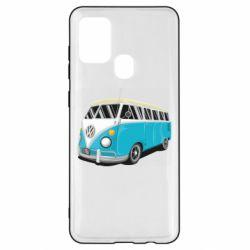Чехол для Samsung A21s Vector Volkswagen Bus