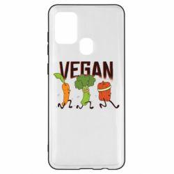 Чохол для Samsung A21s Веган овочі